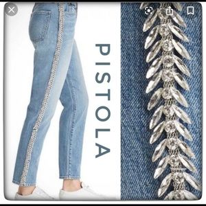 New pistola Nico high rise mom jeans sz 25